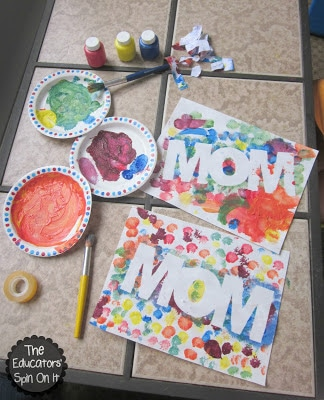 Mother's Day Paint Resist Art Project