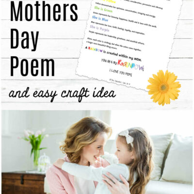 Printable Mother's Day Poem and Craft