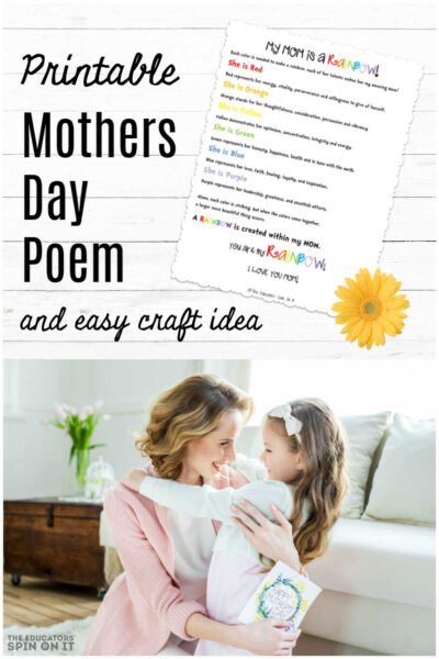 Printable Mothers Day Poem for Kids