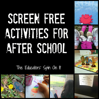 Screen Free Activities for After School {After School Link Up}
