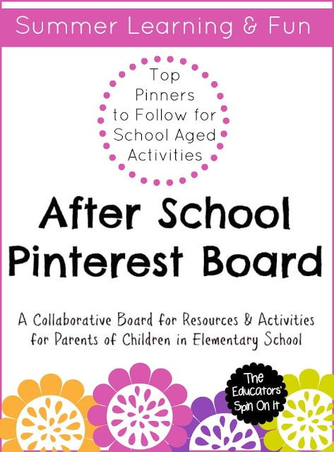 Top Pinners to Follow for Summer Fun for School Ages on Pinterest
