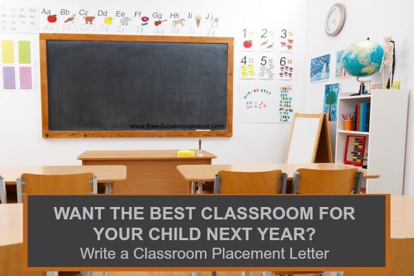 Elementary School Classroom with tips for how to write a classroom placement letter for your child