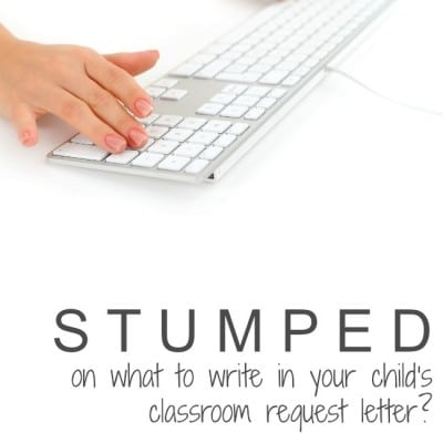 How to write a letter for classroom placement or teacher request with a sample letter