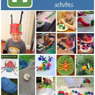 Book Inspired Bug Themed Crafts and Activities