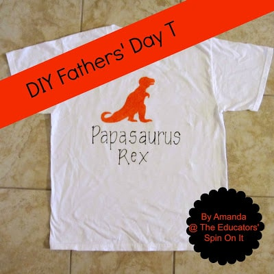 DIY Fathers' Day T-shirt Dinosaur Theme