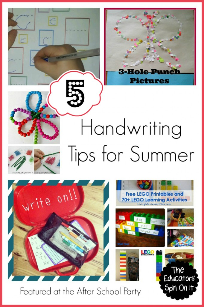 Handwriting tips for summer fun with kids