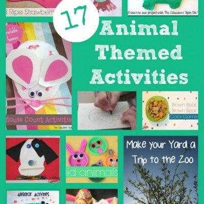 17+ Book Inspired Animal Themed Activities for Kids