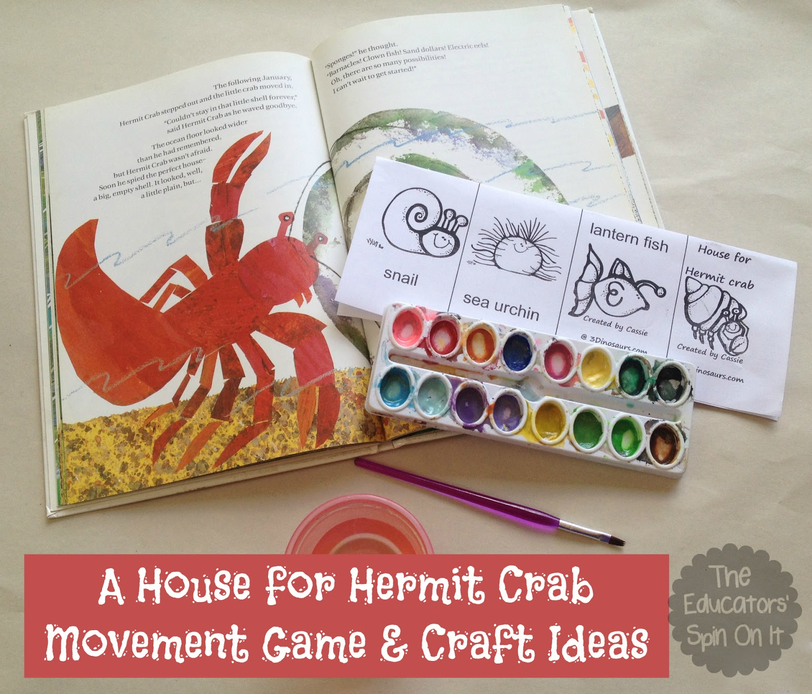 A House for Hermit Crab Activities   The Educators     Spin On ItA House for Hermit Crab Activities