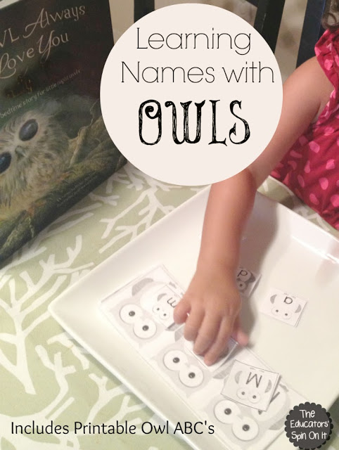 Printable Owl for Learning Name for Preschoolers