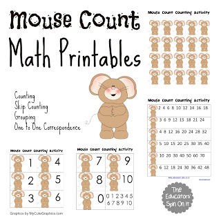 mouse count printable game for kids