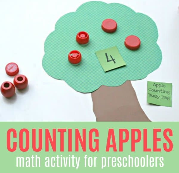 Apple Themed Activity for Preschooler with Counting Apples Game
