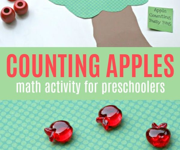 Counting Apples Math Activity for Preschooler and Toddlers