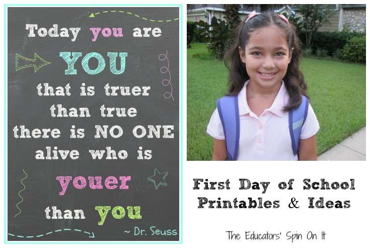 The First Day Of School Resources Printables The Educators Spin