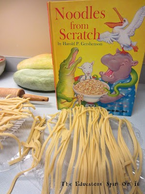 Making noodles from scratch – little hands that cook with books