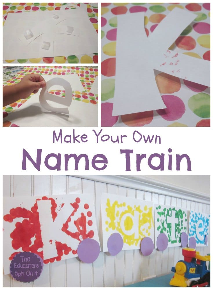 Make Your Own Name Train Craft with Preschoolers