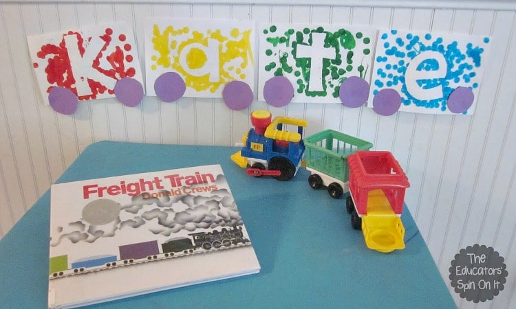 Name Train Craft Idea with Preschoolers