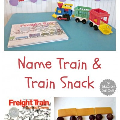 Creating a Name Train Craft And Train Snack for Preschoolers