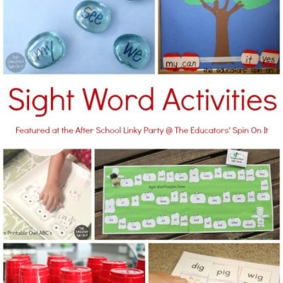 Sight Word & Word Family Activities