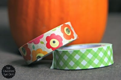 Pumpkin Fun with Washi Tape for Preschoolers & Tots