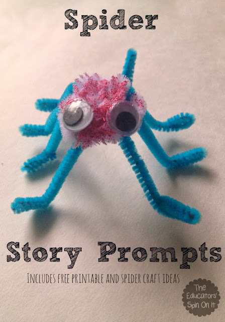 Spider Writing Prompt for Kids for Halloween #eduspin