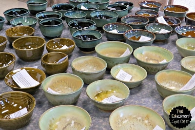 ceramic bowls, empty bowl
