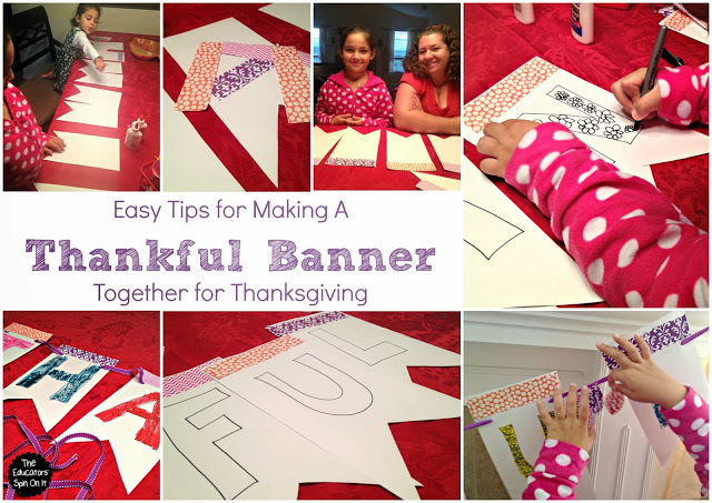 Easy Tips for Making a Thankful Banner for Thanksgiving