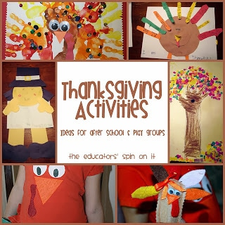 Thanksgiving Activities for Kids from The Educators' Spin On It