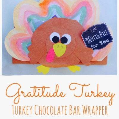Handmade Turkey Chocolate Bar Wrappers