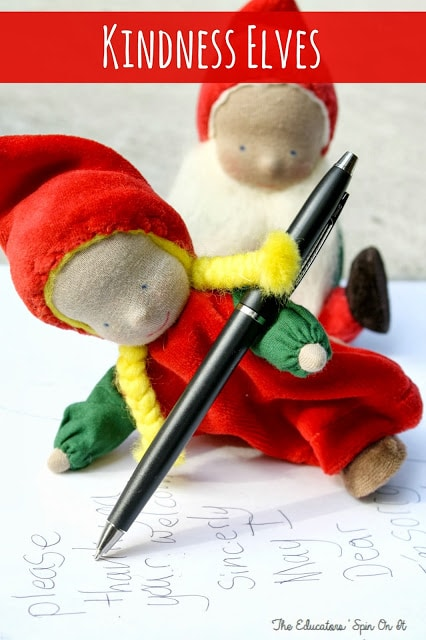 Christmas Traditions using Kindness Elves with free printables for busy parents