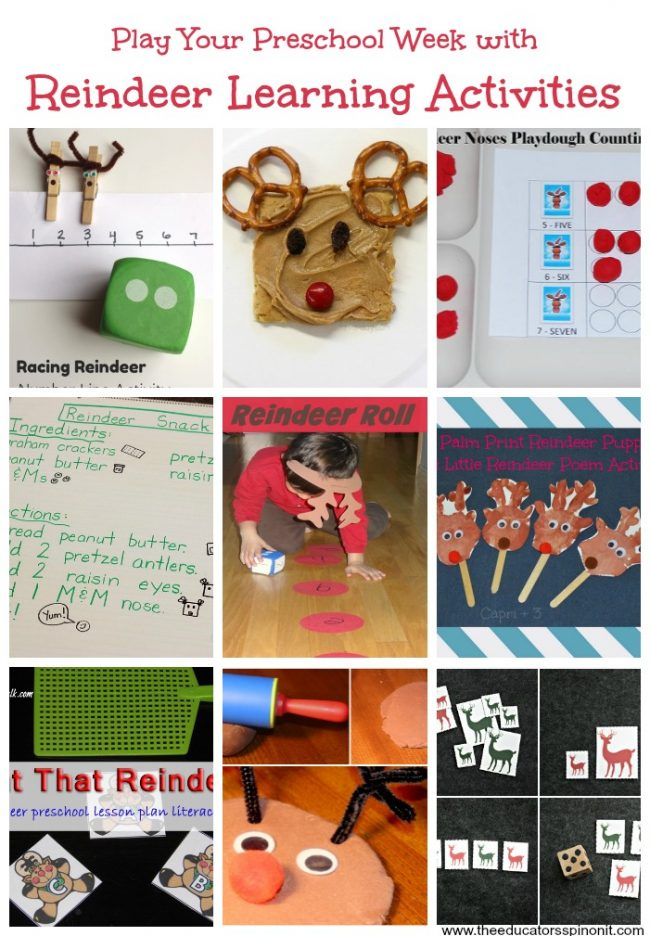Reindeer Learning Activities for Preschoolers