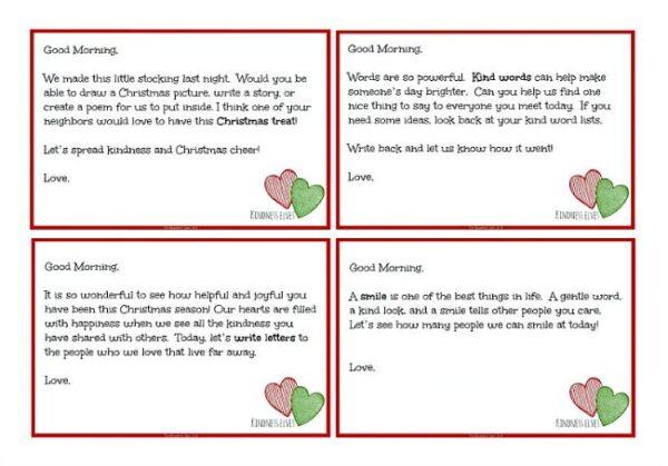 Kindness Elves Free Printables