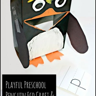 Preschool Penguin Learning Activities and Eco Craft