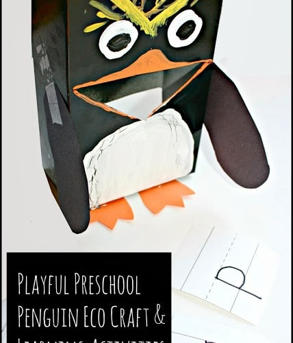 Penguin Letter Game and Eco Craft
