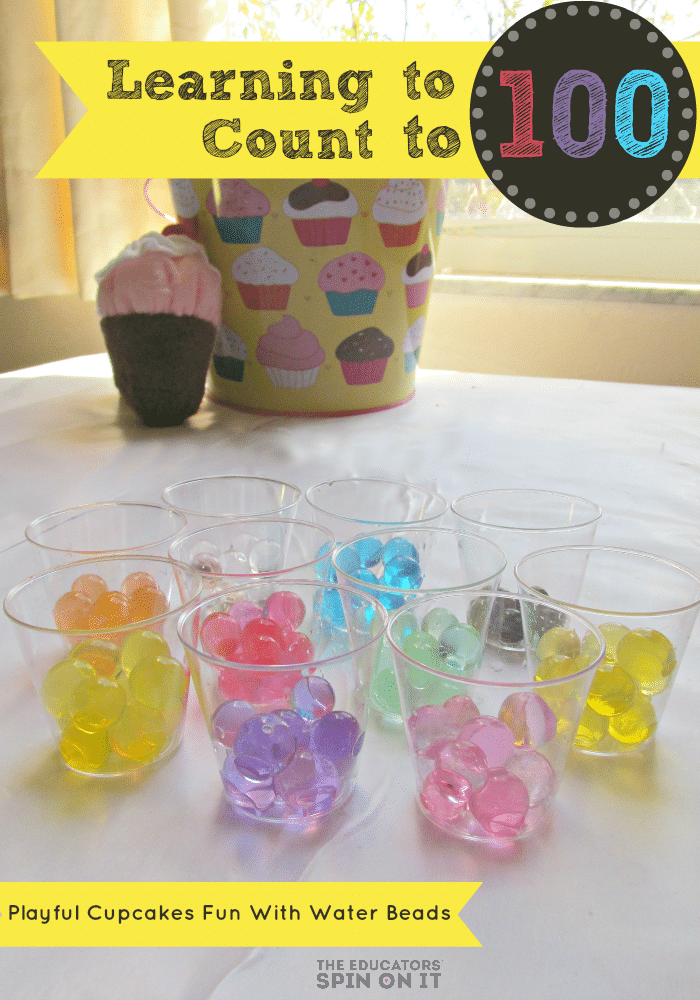 100th Day of School Activity with water beads