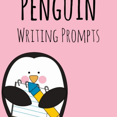 Penguin Writing Prompts and Sewing Activity