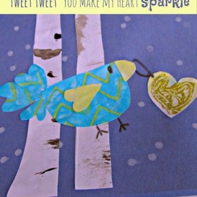Heart Themed Winter Birds Project