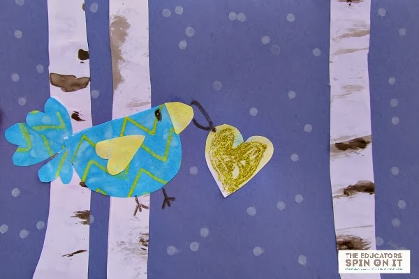 Winter Birds Card from The Educators' Spin On It for Valentines' Day #eduspin