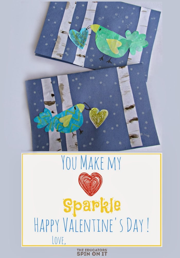 You Make My Heart Sparkle Printable Card from the Educators' Spin On It (1)