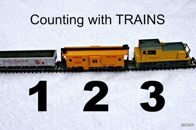 Counting Trains Activity for preschoolers