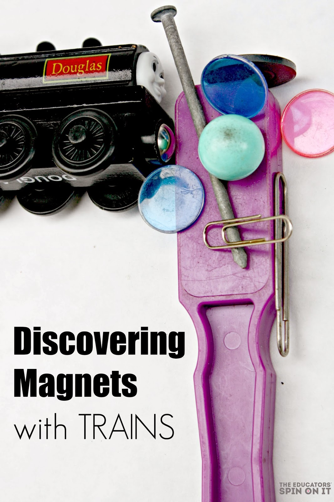 learning about magnets with trains