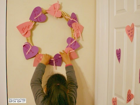 Randomo Acts of Kindness Wreath for Valentine's Day from The Educators' Spin On It