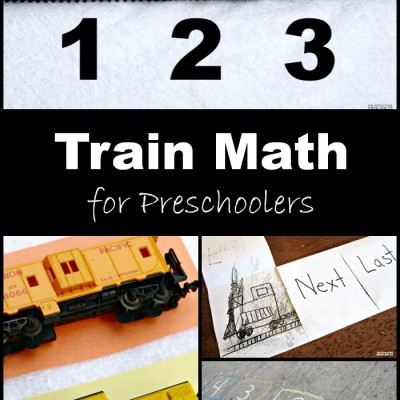 Preschool Math Activities; Learn with Trains