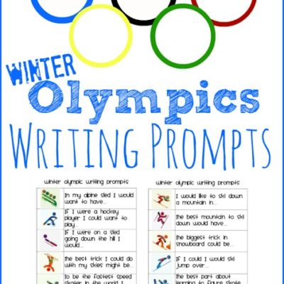 Winter Olympic Writing Prompts for Kids
