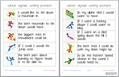 Winter Olympic Writing Prompts  {After School Link Up: Week 7}