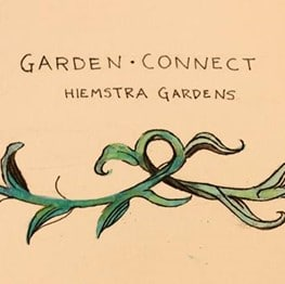Garden Connect Icon with Vine Illustration