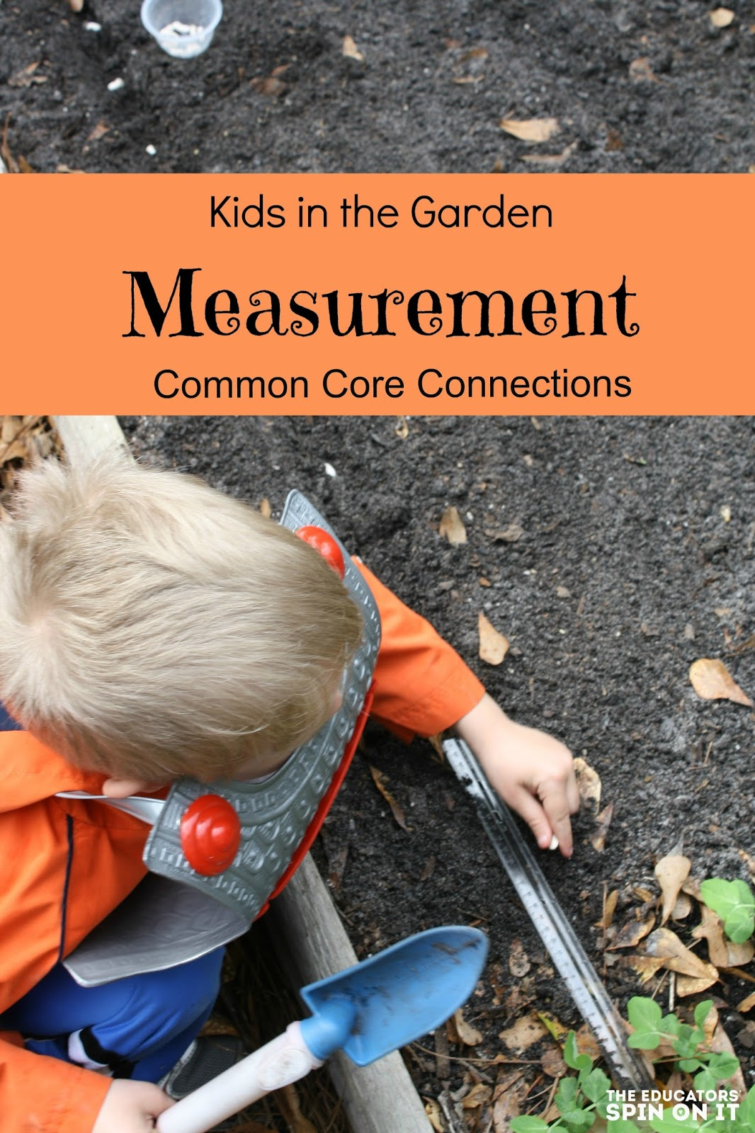 Common Core Connection with measuring in the garden