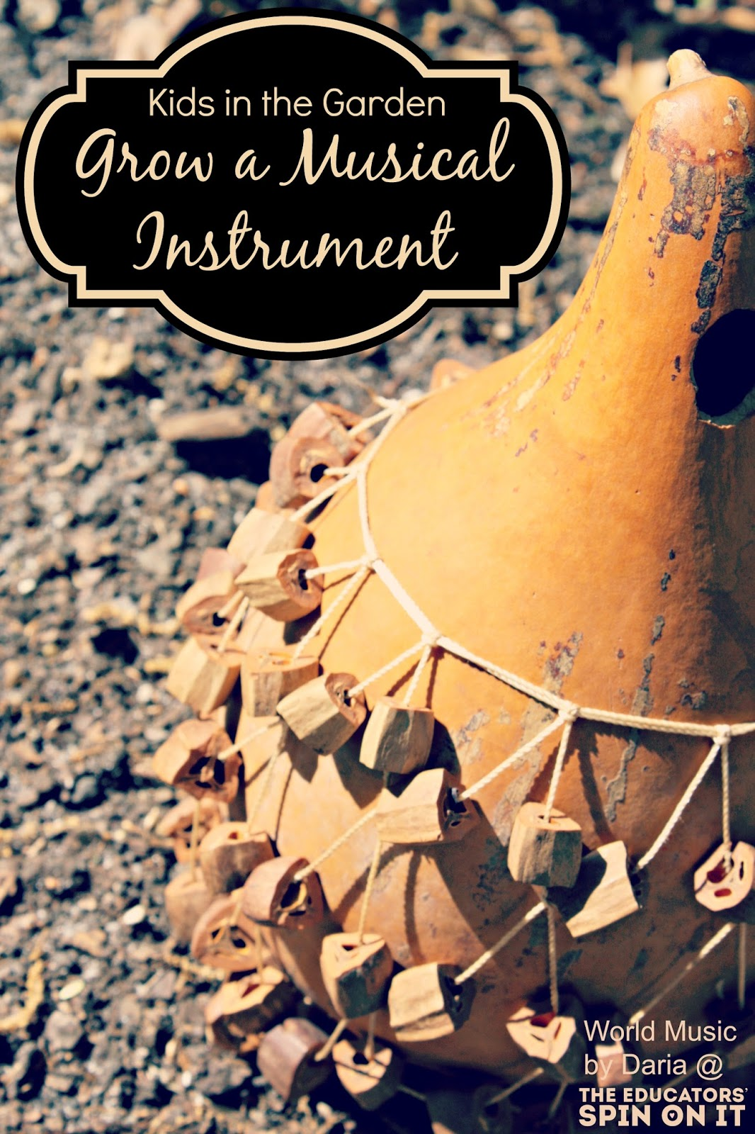 making musical instruments from the garden gourds