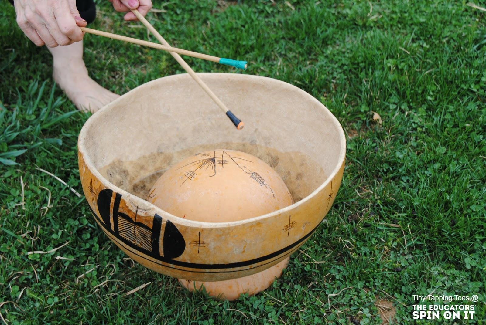 water drum garden music instrument