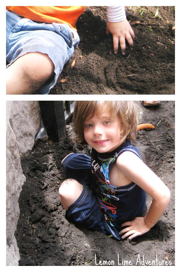 Preschool Garden Sensory Play