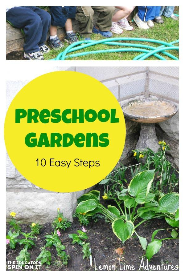 School garden learning activities for preschoolers for Gardening with children